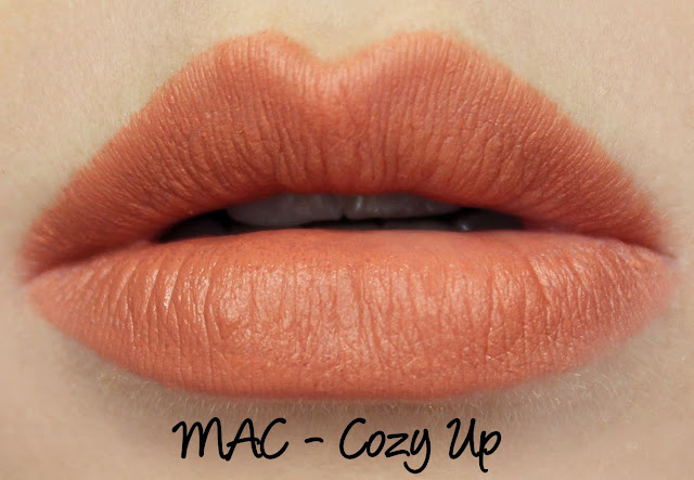 MAC MONDAY | Apres Chic - Cozy Up Lipstick Swatches & Review