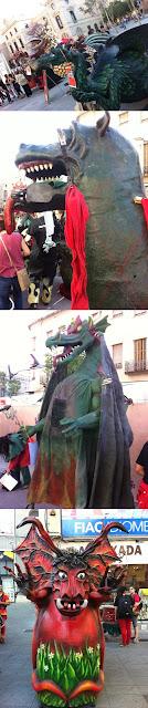 Reus, Terrasa, Castella del Vallès, Correfocs, Diables i Dracs, Composites