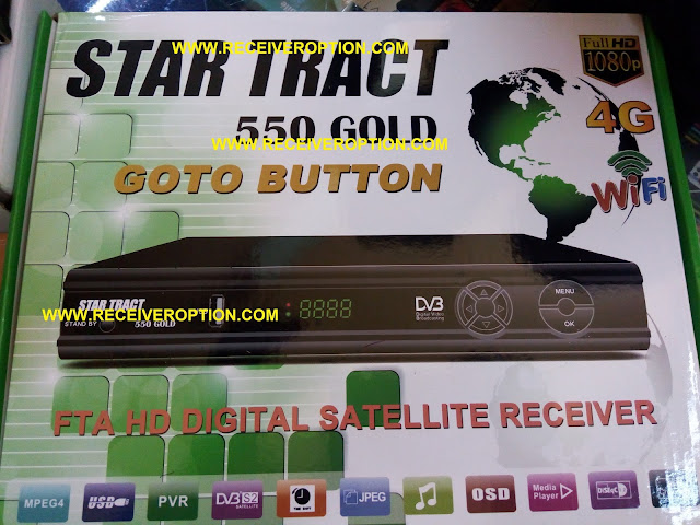 STAR TRACT 550 GOLD HD RECEIVER AUTO ROLL POWERVU KEY SOFTWARE
