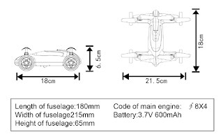 Syma X9 Fly Car Specifications