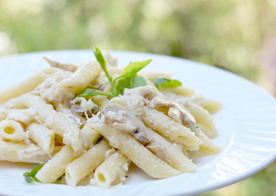Jolly Creamy Mushroom Penne Pasta