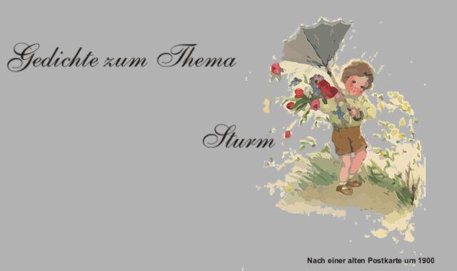 Gedichte Und Zitate Für Alle Durch Sturm Und Regen