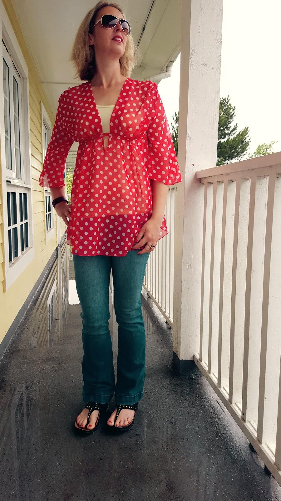 Polka Dots, Rain, Sunglasses