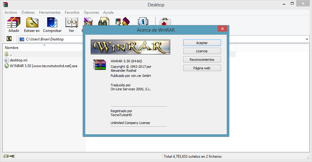 WinRAR 5.50