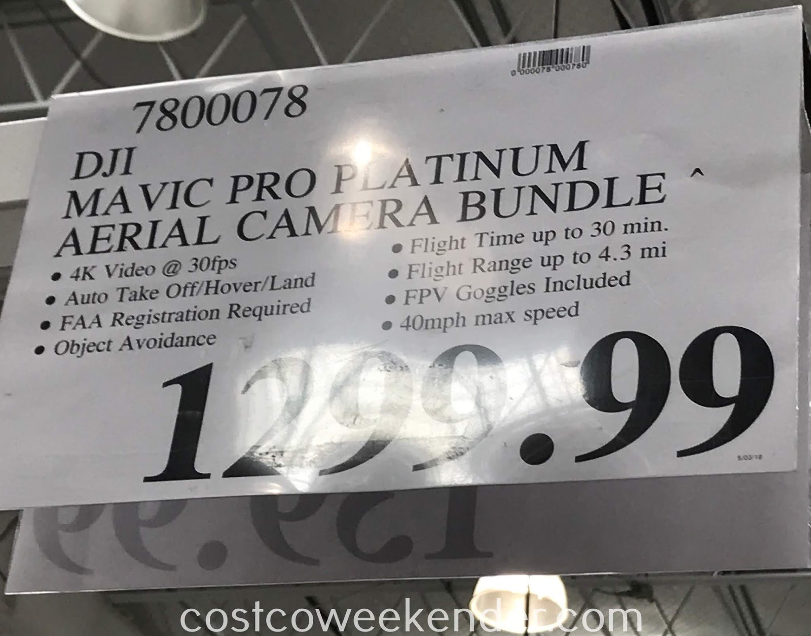 Deal for the DJI Mavic Pro Platinum Bundle at Costco