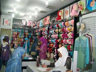 Toko Jilbab di Bontang
