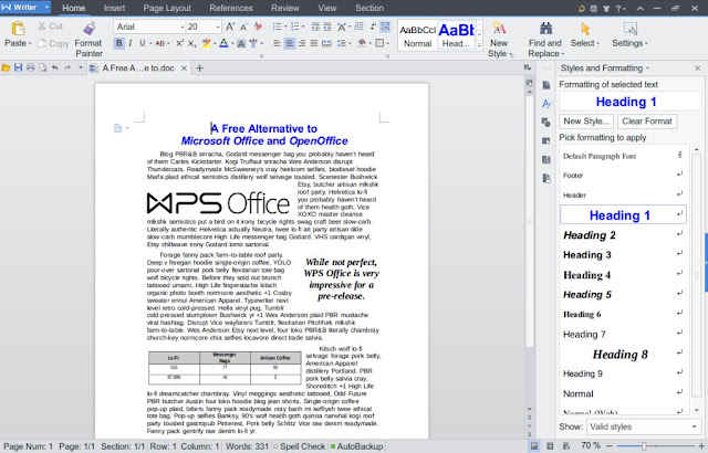 If you are looking for a good free word processor , or are you wondering what software to replace Microsoft Office ?