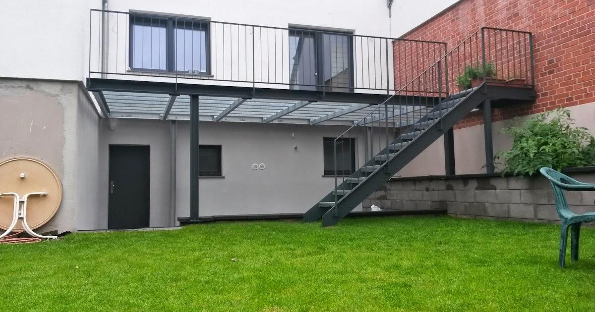 K Chenhaus K Ln fröbel metallbau stahlterrasse mit stahltreppe in brühl fertiggestellt