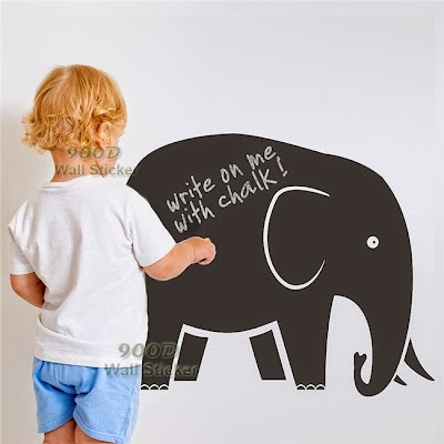 Elephant chalkboard wall sticker