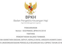 DIBUKA REKRUTMEN PEGAWAI TETAP BADAN PENGELOLA KEUANGAN HAJI REPUBLIK INDONESIA TAHUN 2018