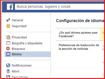 how to change the language on facebook when you can't read it