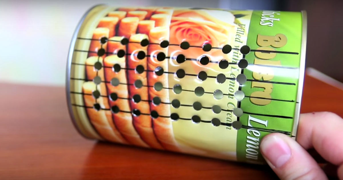 How To Make A Grater From A Tin Can Handy Diy