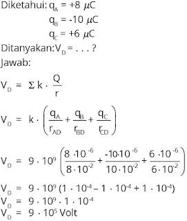 Jawaban soal fisika tentang listrik statis nomor 9