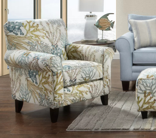 Pleasing Coastal Upholstered Chairs In Beachy Nautical Fabrics Unemploymentrelief Wooden Chair Designs For Living Room Unemploymentrelieforg