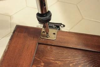 Paint a Bathroom Vanity - Doors Removal