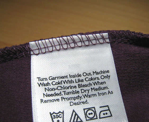 Clothing Tags: The Bottom Whine: The War Against Labels