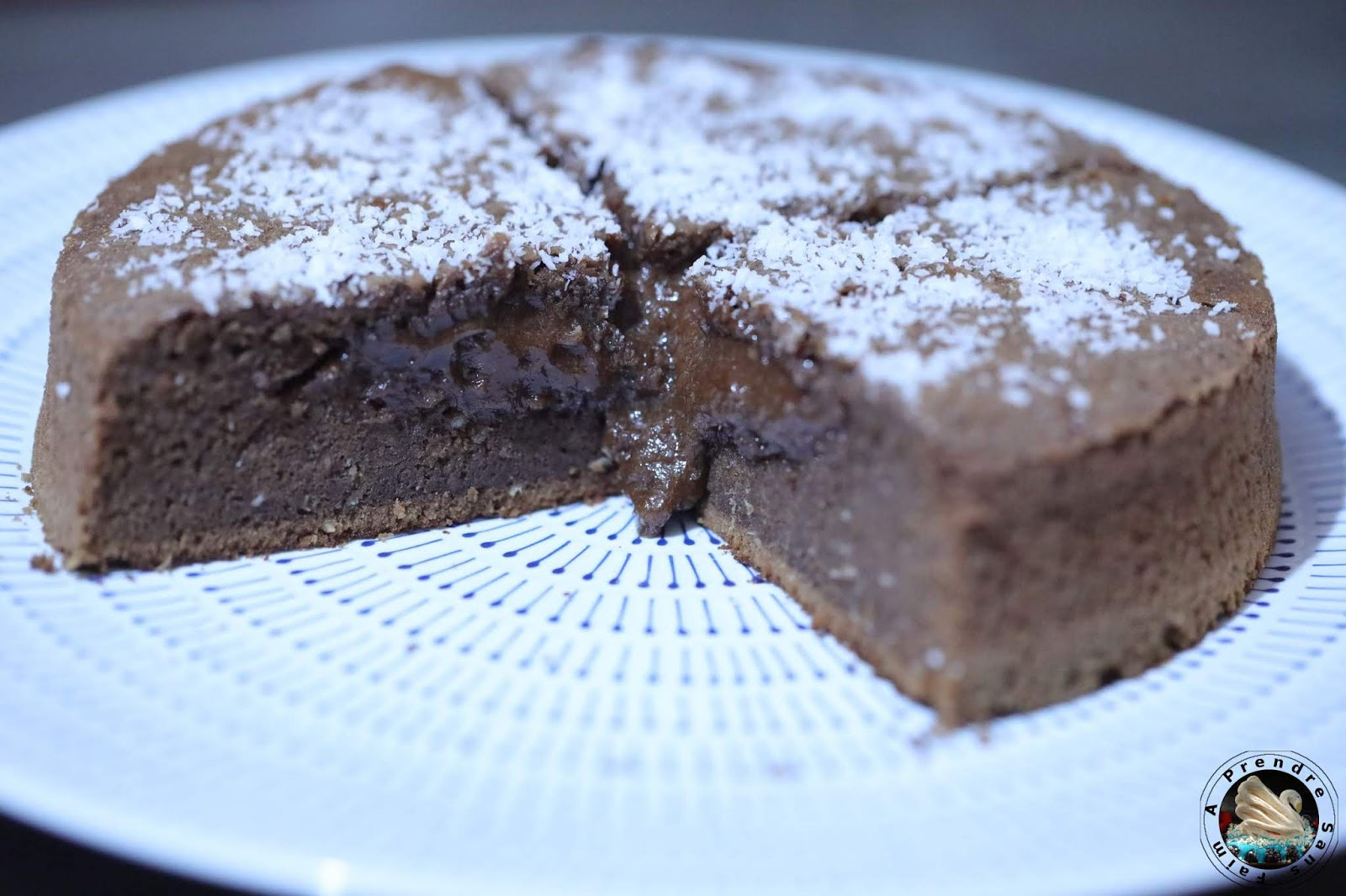 Gâteau chocolat coulant caramel coco