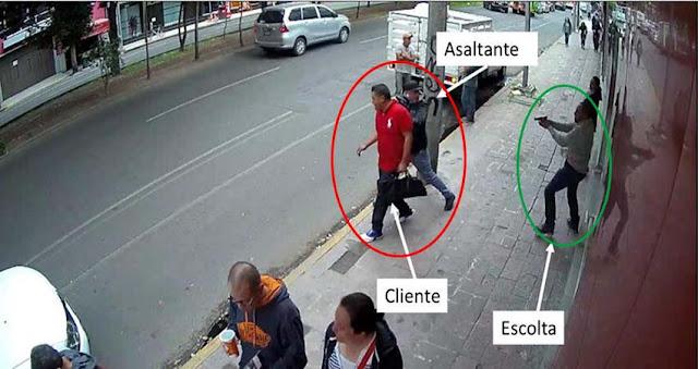 Fotografías: Así fue como escolta mata a un ladrón que intento asaltar a su jefe saliendo de un banco