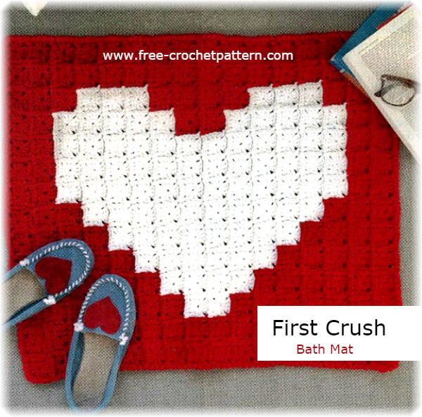 pixel crochet rug with pattern