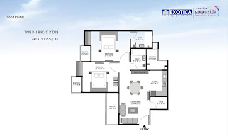 2bhk-flat-in-Exotica-Dreamville-1035-sq.ft.