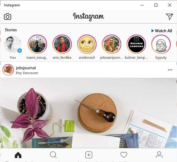 langkah upload photo ke instagram via pc