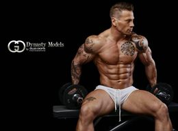 Male Competitive Hunks Bodybuilder with Sexy and Charming Beauty Bodies