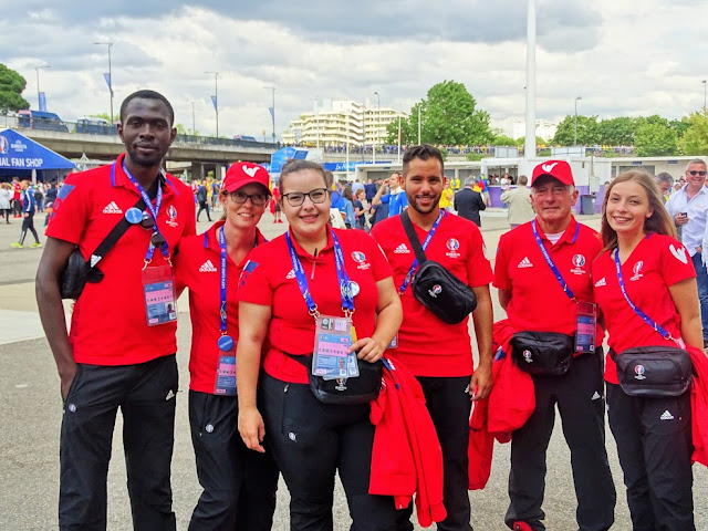 Photo de groupe pendant l'EURO 2016