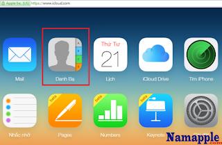 xem danh bạ đã lưu trên iCloud