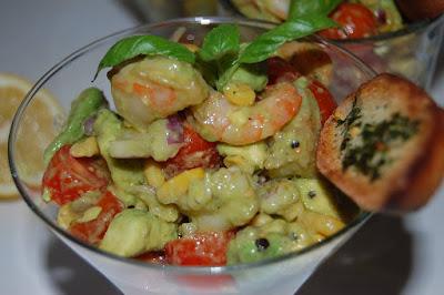 Recette Salade d'avocat aux crevettes