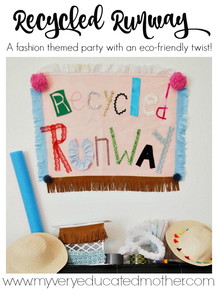 You won't believe how creative kids can get until you host one of these!  It's Trashion Fashion at a Recycled Runway Birthday Party!