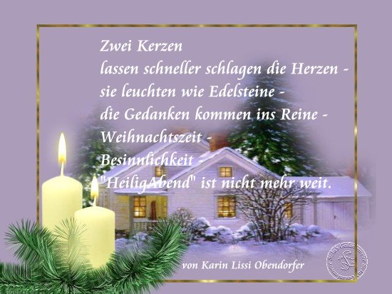 2 Advent Gedicht Karins Gedichte Blog Dezember 2011 Zweiter