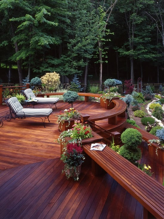 Garden Design Ideas: Deck Designed Garden