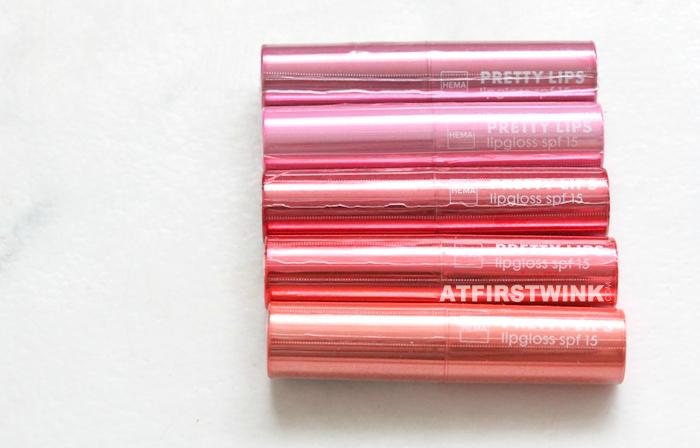 HEMA Pretty Lips lipgloss spf15 in plastic wrap