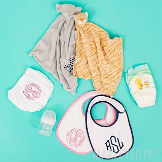 monogrammed accessories for babies