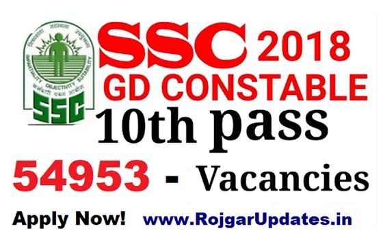 SSC Recruitment GD Constable - 54953 Posts
