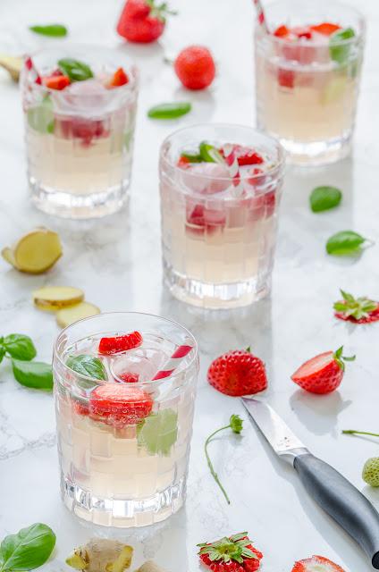 Strawberry & Basil Mule