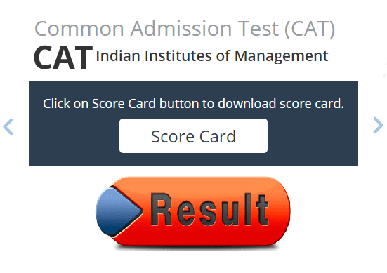 CAT Score Card Result