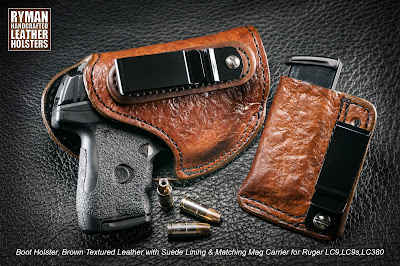 leather boot holster by Ryman Holsters