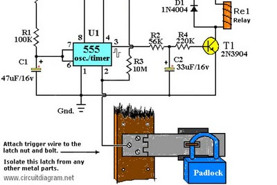 Alarm System Circuit Diagram