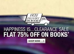 Clearance Sale on Books: Get Flat 75% Off on Competitive Exams & Other Bookswith Free Home Deliveryat Flipkart