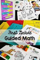 First Grade Guided Math lesson plans, centers, assessments, and more. Everything you need to run small group math in your 1st grade classroom!