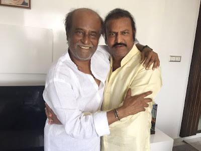 Veteran Actor Mohan Babu Met Rajini at His Residence and Praised Him As King Duryodhana and Termed Himself As Karna