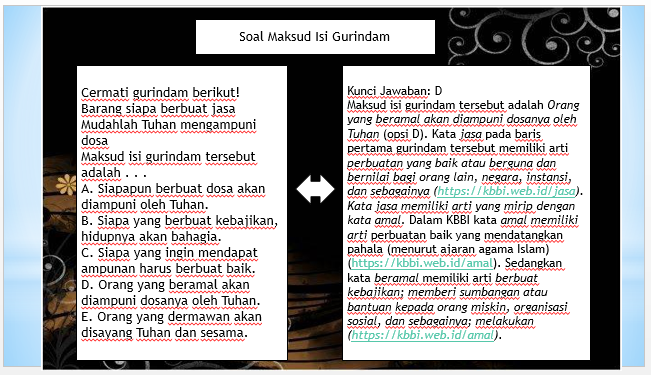 Fourth image of Powerpoint Menentukan Makna Kata Lambang Atau Simbolik with POWERPOINT MENENTUKAN MAKSUD GURINDAM ~ ZUHRI INDONESIA