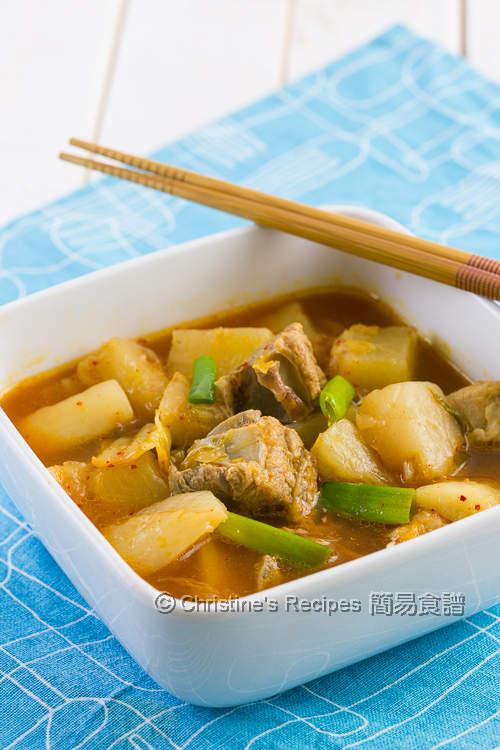 Braised Kimchi Radish and Pork Ribs02