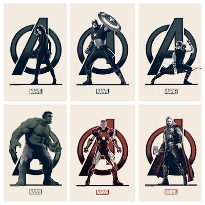 The Avengers Movie Variant Edition Handbill Set by Matt Ferguson & Grey Matter Art
