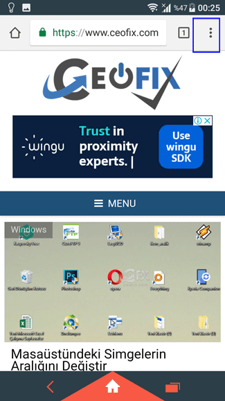 Android için google Chrome'da kapatılan sekmeler nasıl açılır?www.ceofix.com