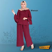 Jual Online Gamis Warna maroon