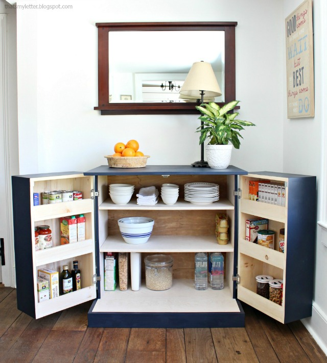That's My Letter: DIY Freestanding Kitchen Pantry Cabinet