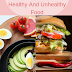 Healthy And Unhealthy Foods.