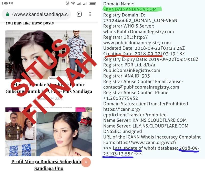 Digelar Kpu Di Monas Hari Minggu Kemarin Sekarang Publik Dihebohkan Dengan Situs Berisi Fitnah Terhadap Calon Wakil Presiden Sandiaga Salahuddin Uno